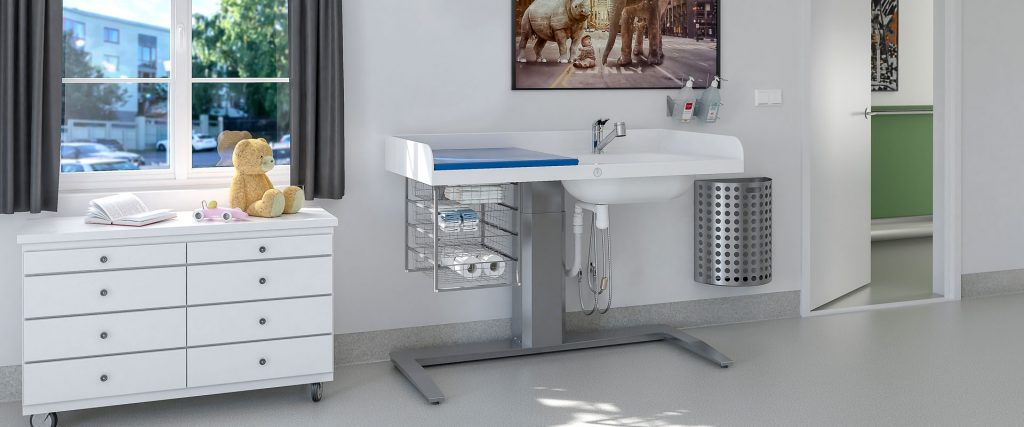 Most Useful for Smaller Areas: Diaper Corner Baby Changing Table