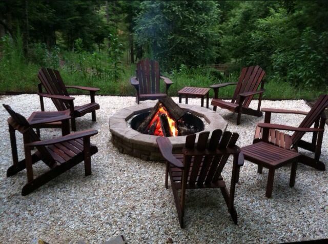 Best Chairs Around Outdoor Garden Fire Pit for Relaxing Evenings